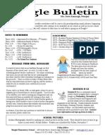 Beagle Elementary School Newsletter October 25, 2013