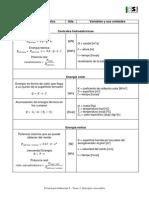 Fórmulas Tema 3- Energías renovables