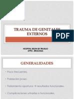 Trauma de Genitales Externos 2013
