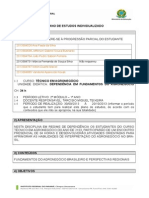 Modelo de Plano de Ensino fundamentos do agronegócio DEPENDÊNCIA - 2013