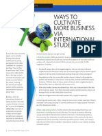 7 Ways to Cultivate More Business Via International Students