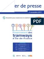 Dossier_de_presse_ensemble Pour Moderniser Le Materiel Roulant, Financement Des Trams d'IDF 7_novembre