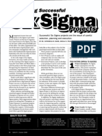 Selecting successful Six Sigma Projects