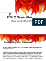 pyp 2 newsletter clues from the past