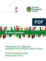 Programa Presidencial - Alfredo Sfeir - 2014-2018
