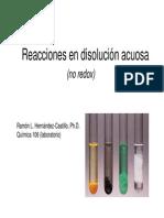 Reacciones en Medio Acuoso Precipitacion y Acidobase