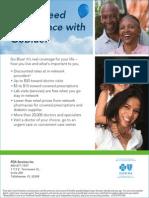 Promotional brochure for Blue Cross Blue Shield Go Plan 91