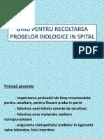 Ghid Pentru Recoltarea Probelor Biologice in Spital-prezentare