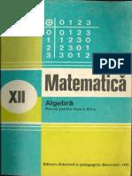 Cls 12 Manual Algebra XII 1981