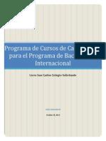 Programa de Cursos de Capacitación para el Programa de Bachillerato Internacional