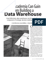 What Academia Can Gain From Building d Data Warehouse