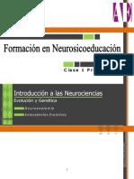 Introducción a las Neurociencias I