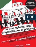 Cartel No a La Reforma Local