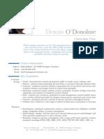 Dennis O'Donohue CV - Oct 2013t-f