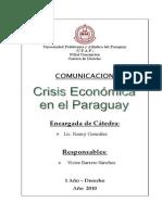 Crisis Económica en el Paraguay