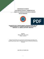 Tesis - Diagnostico Del Comportamiento Organizacional - Juan Betancourt