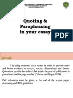 3. Quoting & Paraphrasing