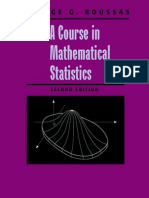Roussas g a Course in Mathematical Statistics