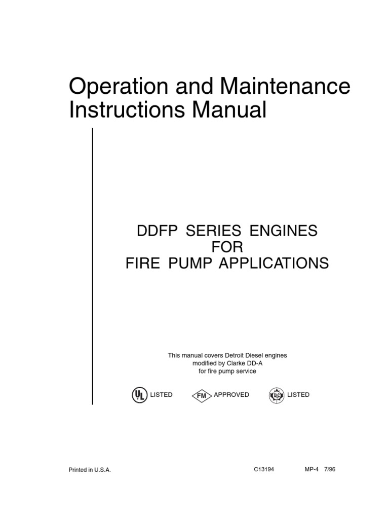 Manual Ddfp Internal Combustion Engine Fuel Injection Series 53 Detroit Diesel Wiring