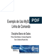 17363 Exemplo de Uso MySQL Linha de Comando v2