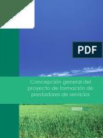Concepción general del proyecto de formación de prestadores de servicios