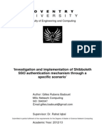 'Investigation and implementation of Shibboleth  SSO authentication mechanism through a  specific scenario'