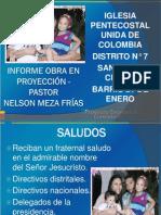 Informe a Octubre 2013 - Obra en Proyección - San Diego, Cesar - Dsitrito 7
