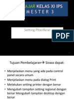 Setting Pheriferal