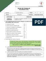 Ficha de Trabajo Seguridad Vial
