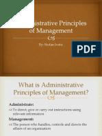 Administrative Principles of Management