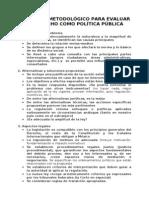 METODO PARA EVALUAR LA FACTIBILIDAD D LA NORMA A TRAVÉS DE  POLÍTICA PÚBLICA