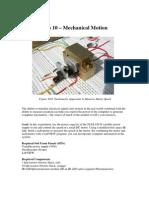 Lab 10 Mechanical Motion