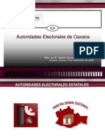 AUTORIDADES ELECTORALES DE OAXACA.ppt