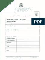 Formato Inscripcion de Proyectos de Tesis