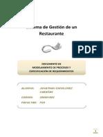 Sistema de Gestión de un Restaurante