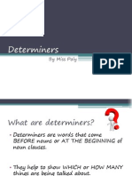 Determiners With Exercises