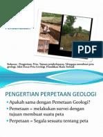 perpetaan geologi