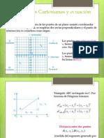 Coordenadas Cartesianas y ecuación de la recta