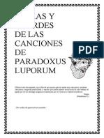 Letras y Acordes de Paradoxus Luporum