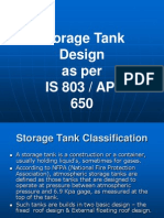 TDI13 Storage Tank Design as per IS803 and API650.ppt