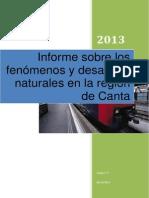 Informe Sobre Desastres Naturales