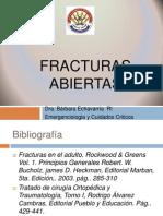 Dra. Ehchevarria - Fracturas Abiertas