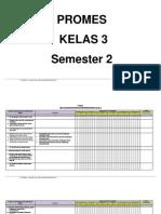 Promes Tematik Kelas 3 Smt 2
