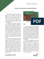 Estruturas de contenção em solo reforçado com geotêxtil não tecido