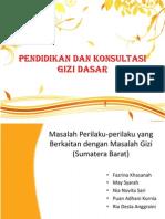 Pendidikan Dan Konsultasi Gizi Dasar