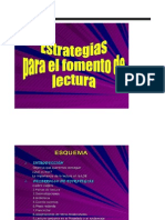 Estrategias Para El Fomento Ala Lectura