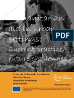 Humanitarian aid in urban settings