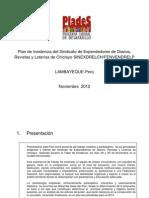 Plan de Incidencia Del Sindicato Del Sindicato de Expendedores de Diarios CHICLAYO