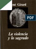 Rene Girard- La Violencia y Lo Sagrado.