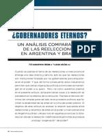 Gobernadores eternos? Un análisis comparativo de las reelecciones en Argentina y Brasil